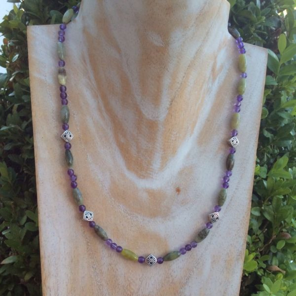 Amethyst Celtic necklace