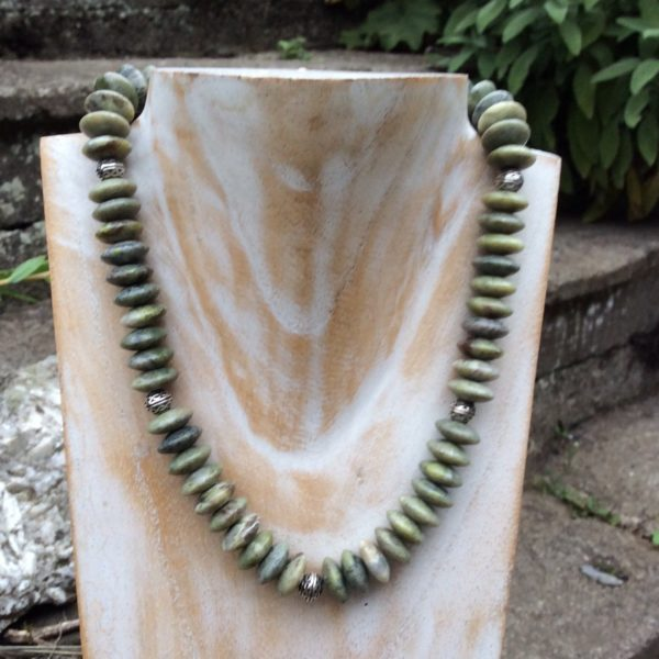 Chunky Connemara marble necklace