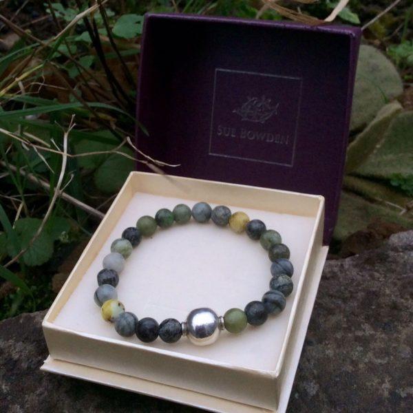 Chucky connemara marble bracelet with silver bead