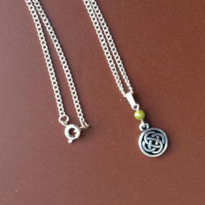 Celtic Connemara marble pendant