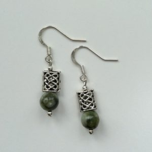 Connemara marble celtic earrings
