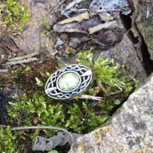 Irish Jewelry gift gold Gemstone gift Leaf and branch Connemara marble earrings