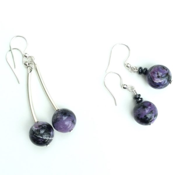 Gemstone hematitle earrings