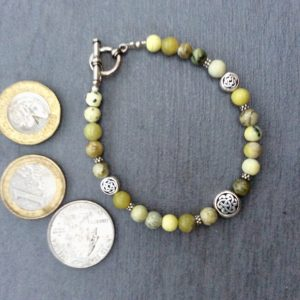 Green connemara bracelet