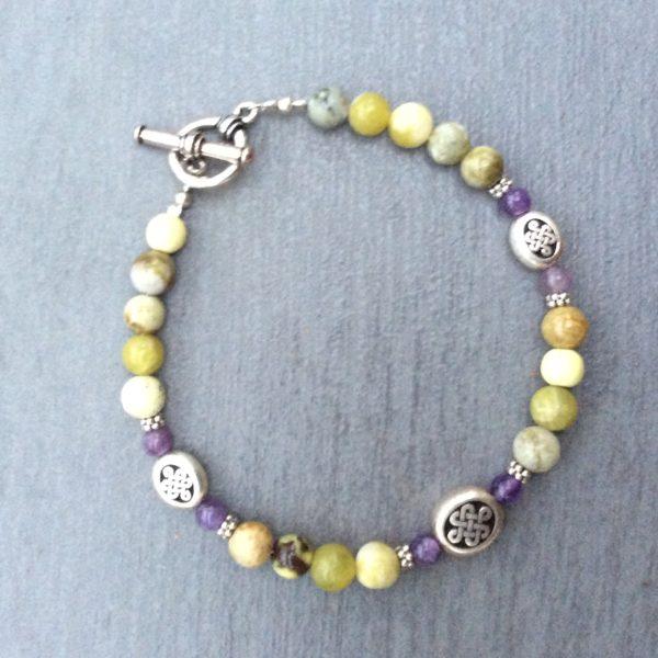 Celtic gemstone bracelet