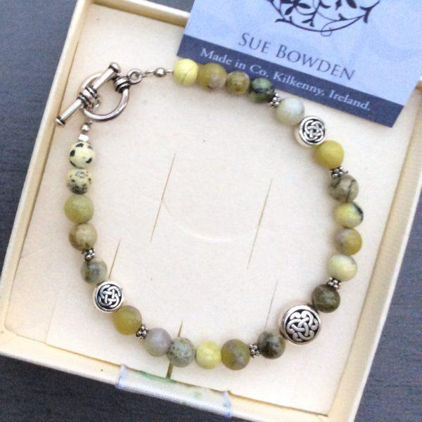 Connemara marble celtic bracelet