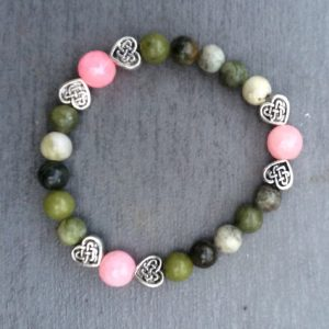 Connemara marble Rose Quartz bracelet