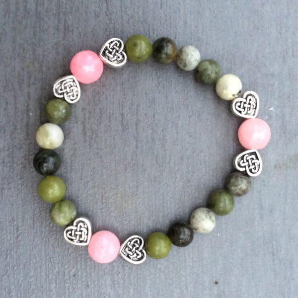 Love heart pink bracelet
