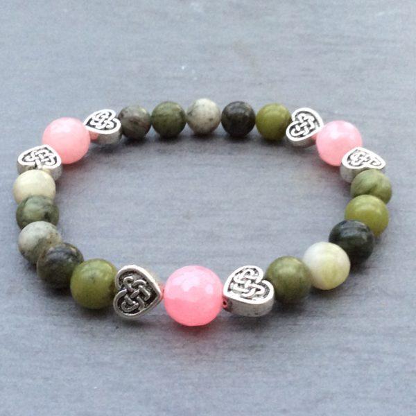 Irish heart bracelet