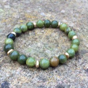 Connemara marble gold nugget bracelet