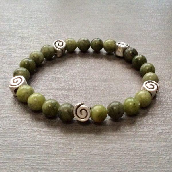 Connemara marble Irish Spiral Bracelet