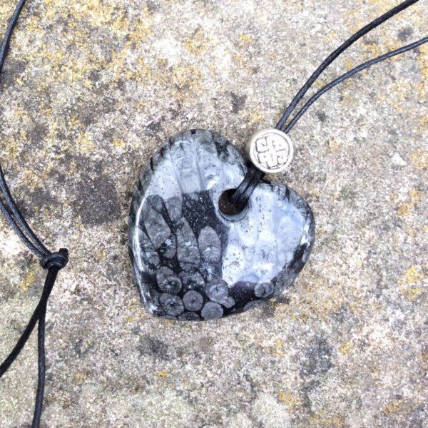 Kilkenny marble heart pendant