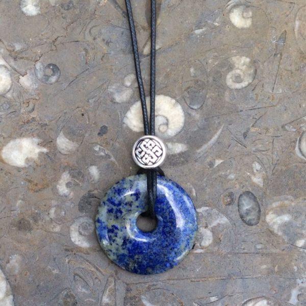 Lapis lazuli celtic donut pendant