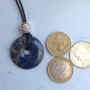 Lapis Lazuli celitic irish pendant