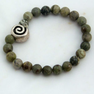 Connemara marble spiral bracelet