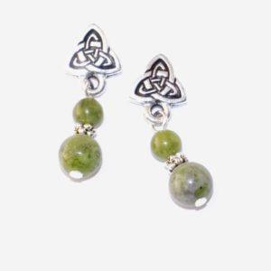 Connemara marble drop earrings