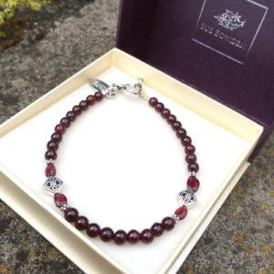 Garnet Celtic Bracelet