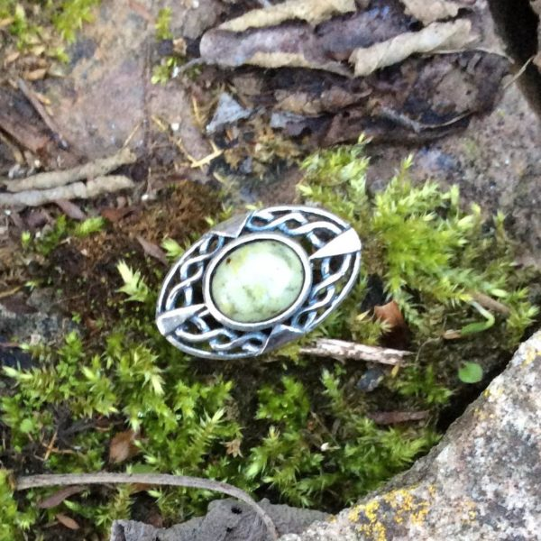 Connemara marble celtic ring