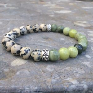 Jasper and Connemara marble bracelet