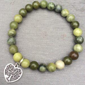 Connemara marble heart charm bracelet