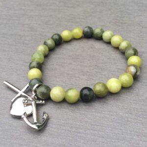 Connemara marble charm bracelet